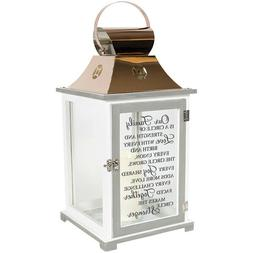 OUR FAMILY IS A CIRCLE OF STRENGTH Memorial Candle Lantern,