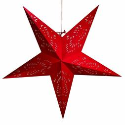 Paper Star Lights - 3D Star Lantern Decorations with 12 Foot