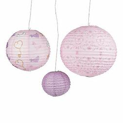 Pink Cowgirl Hanging Paper Lanterns - Party Decor - 3 Pieces