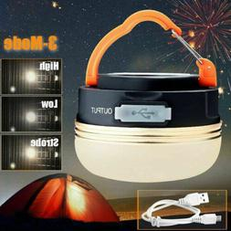 Portable Rechargeable LED Hiking Camping Tent Lantern Light