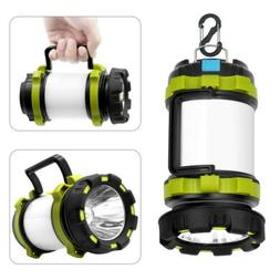 Rechargeable LED Camping Lantern Collapsible Flashlight Port