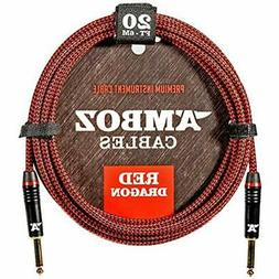Red Categories Dragon Instrument Cable - Noiseless For Elect