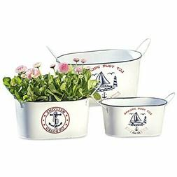 WHW Whole House Worlds Sailors Delight Plant Containers, Set