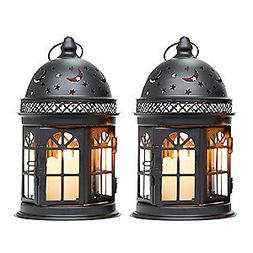 set of 2 decorative candle lanterns 8