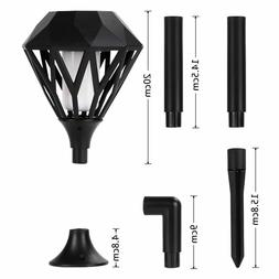 Solar Torch Flame 96 LED Light Stake Wall Outdoor Indoor Gar