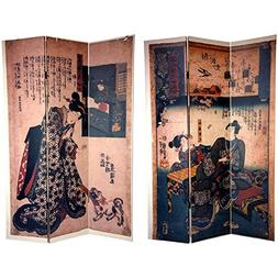 Oriental Furniture 6 ft. Tall Double Sided Japanese Figures