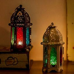 US Moroccan Style Metal Hollow Wedding Hanging Candle Holder